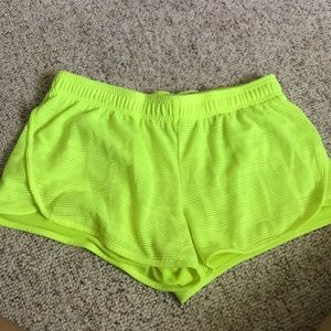 Neon athletic shorts